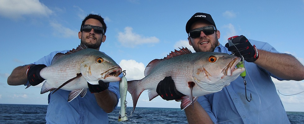 Double Header on Red Bass