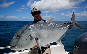 Coral Sea Sportfishing Safaris and a nice silver GT