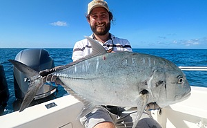 A nice Coral Sea GT landed at one of the outter reefs.