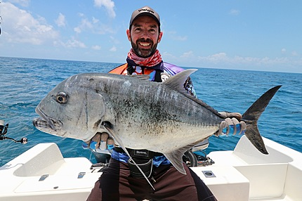 GT mug-shot from our guided fishing charters